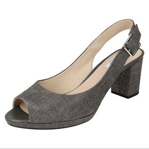 Clarks - Kelda Spring Leather Slingback Heels